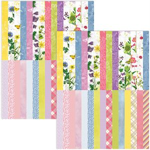 Picture of Buy one, get one 75% off sale, Pocket Floral Flourish Border Strips by Katie Pertiet - Set 30